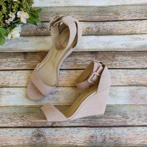 New Chinese Laundry Blush Wedge with Ankle Strap